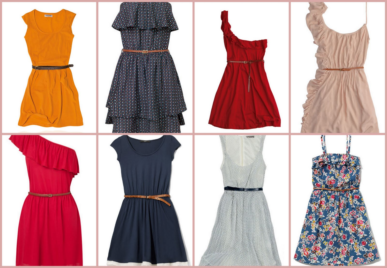 Belts and Dresses
